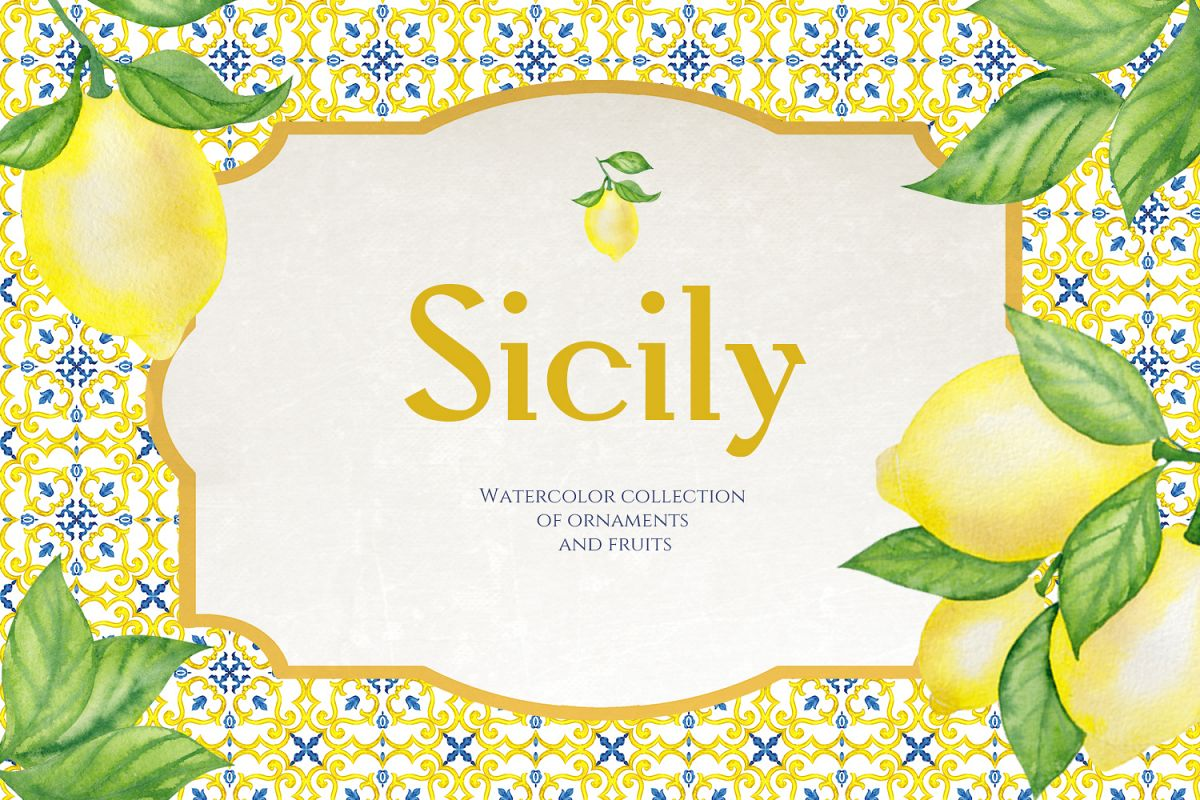 Sicily. Ornament and fruits example image 1