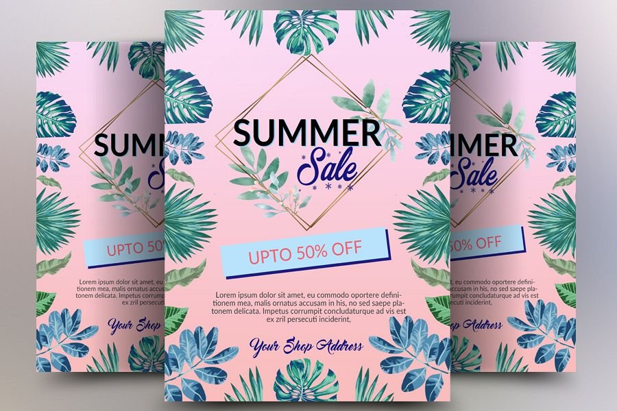 Summer Sale Offer Flyer example image 1
