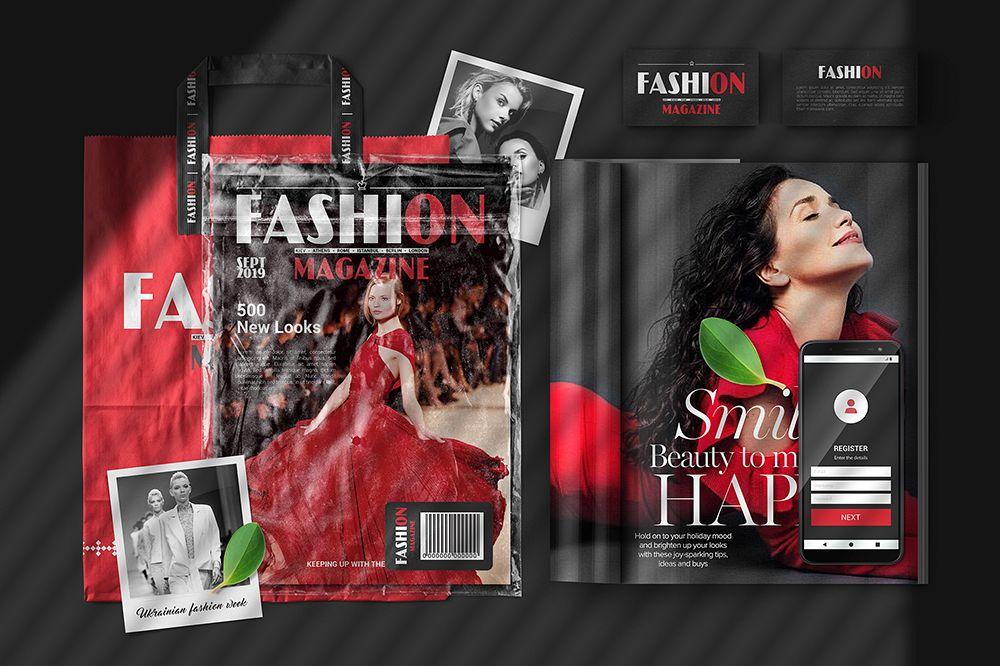 A4 Magazine Scene Mockup example image 1
