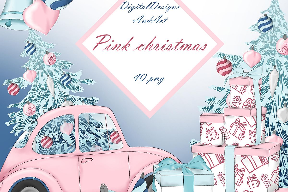 Christmas in pink example image 1