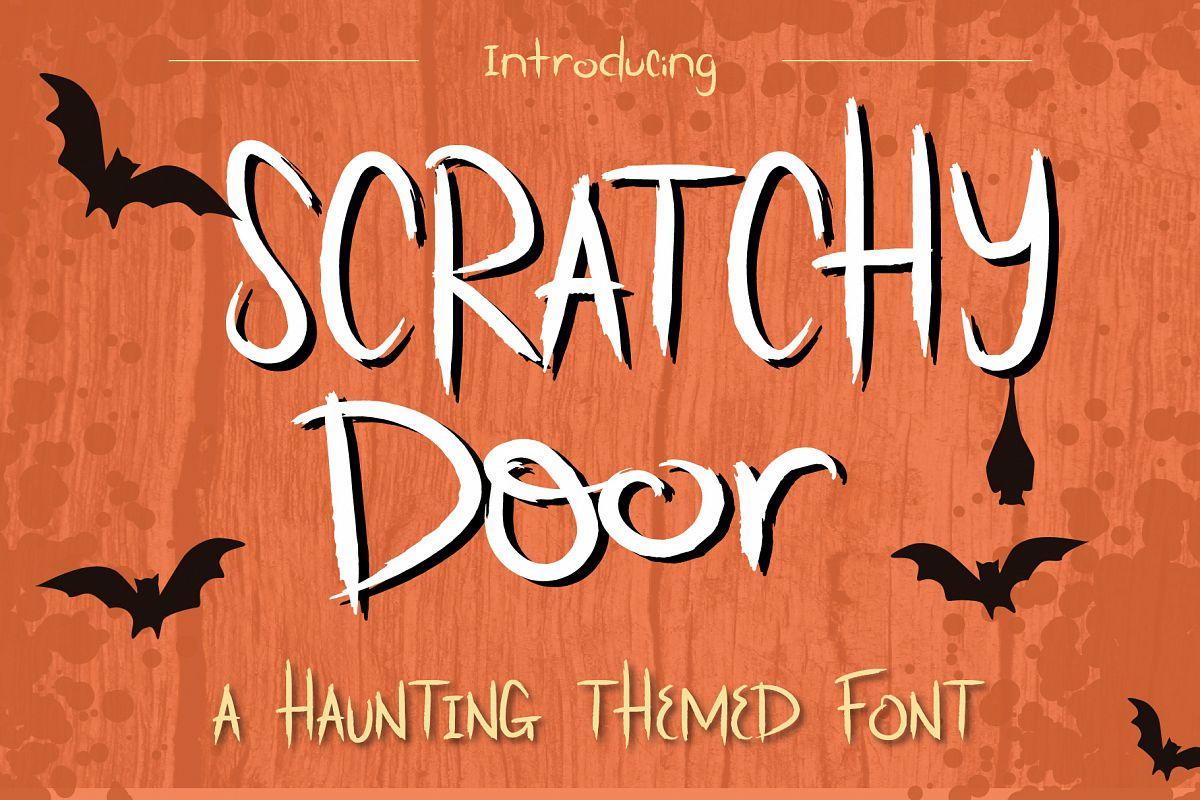 Scratchy Door Halloween Font example image 1
