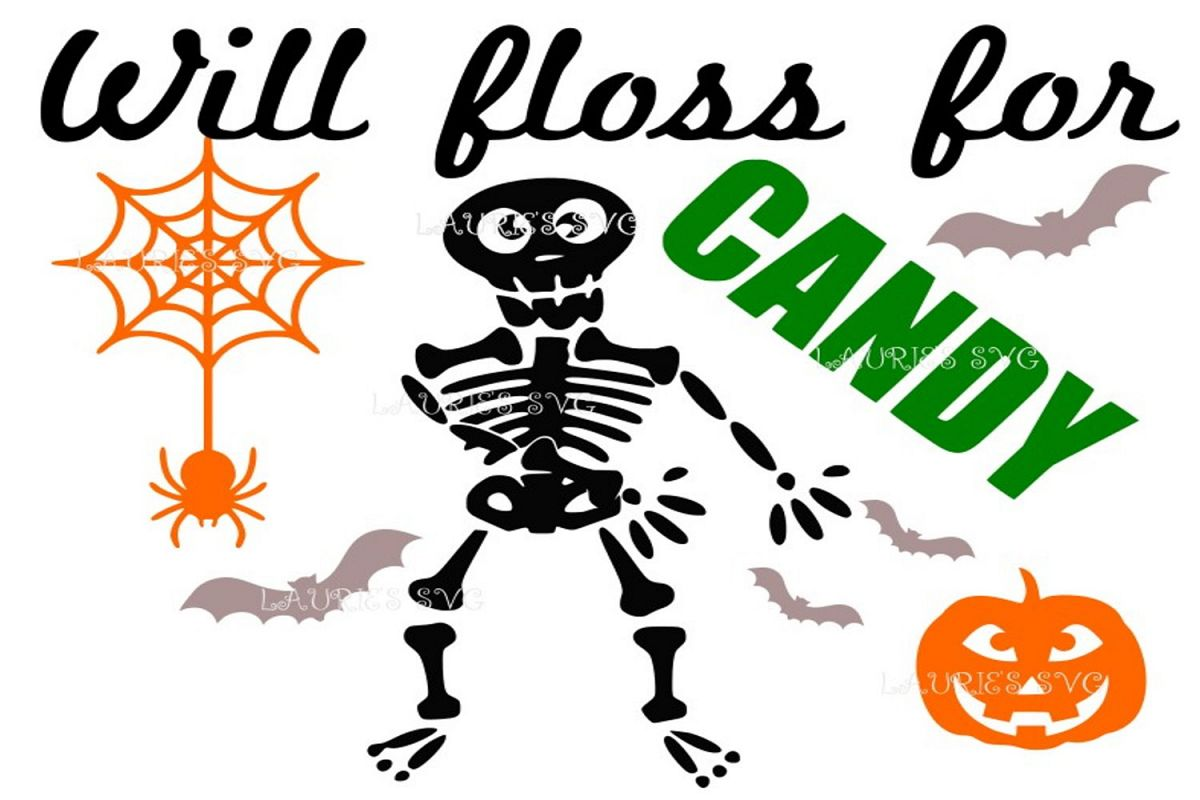 Halloween will floss for candy boy FILE SVG,EPS,DXF,PNG,JPG example image 1