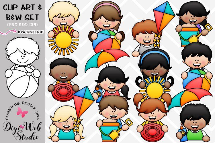 Clip Art / Illustrations - Big Grin Summer Topper Kids example image 1