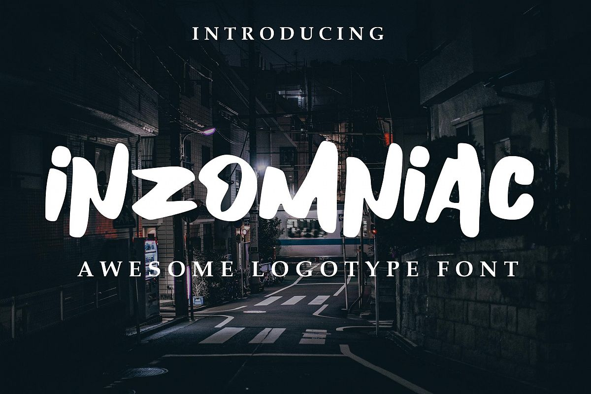 Inzomniac Logotype Font example image 1