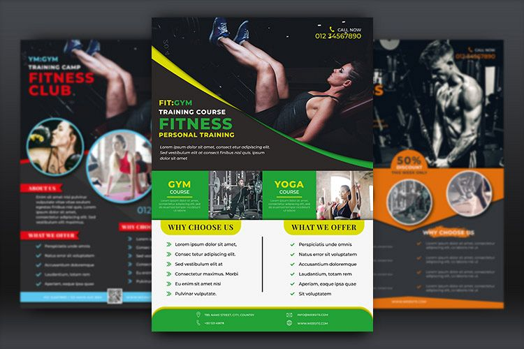Fitness Flyer Templates example image 1