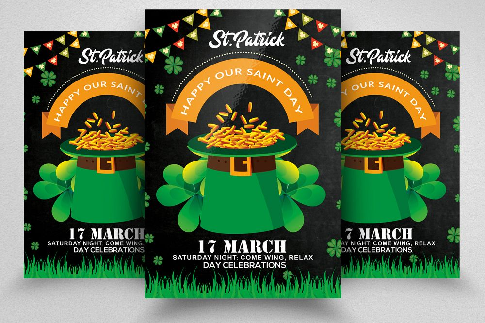 St. Patricks Day Flyer Template example image 1