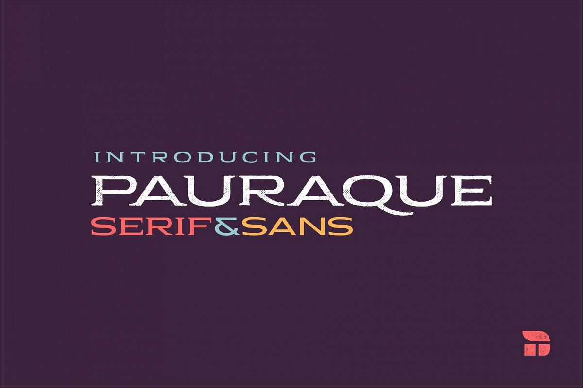 Pauraque - Serif & Sans example image 1