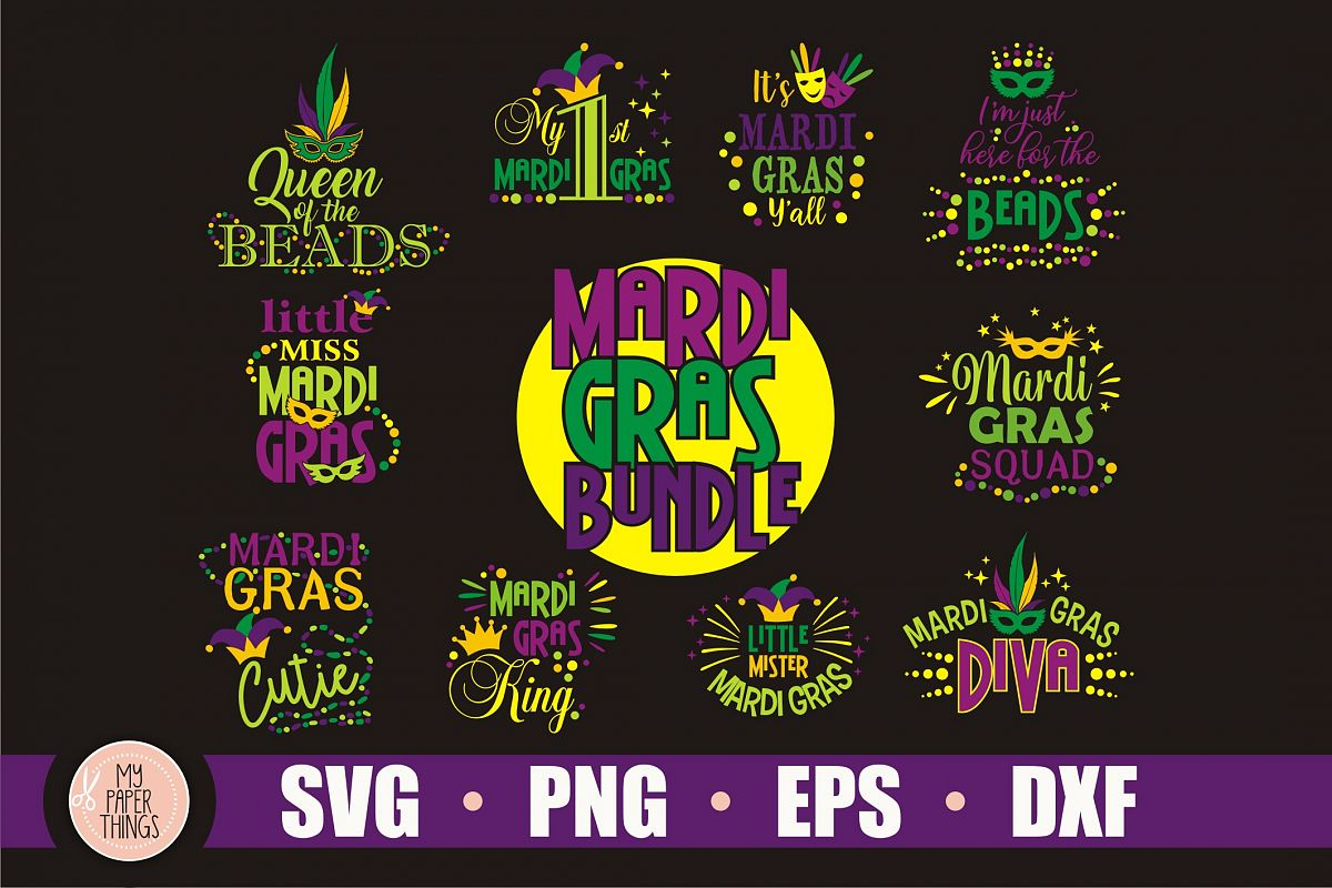 Mardi Gras svg bundle example image 1