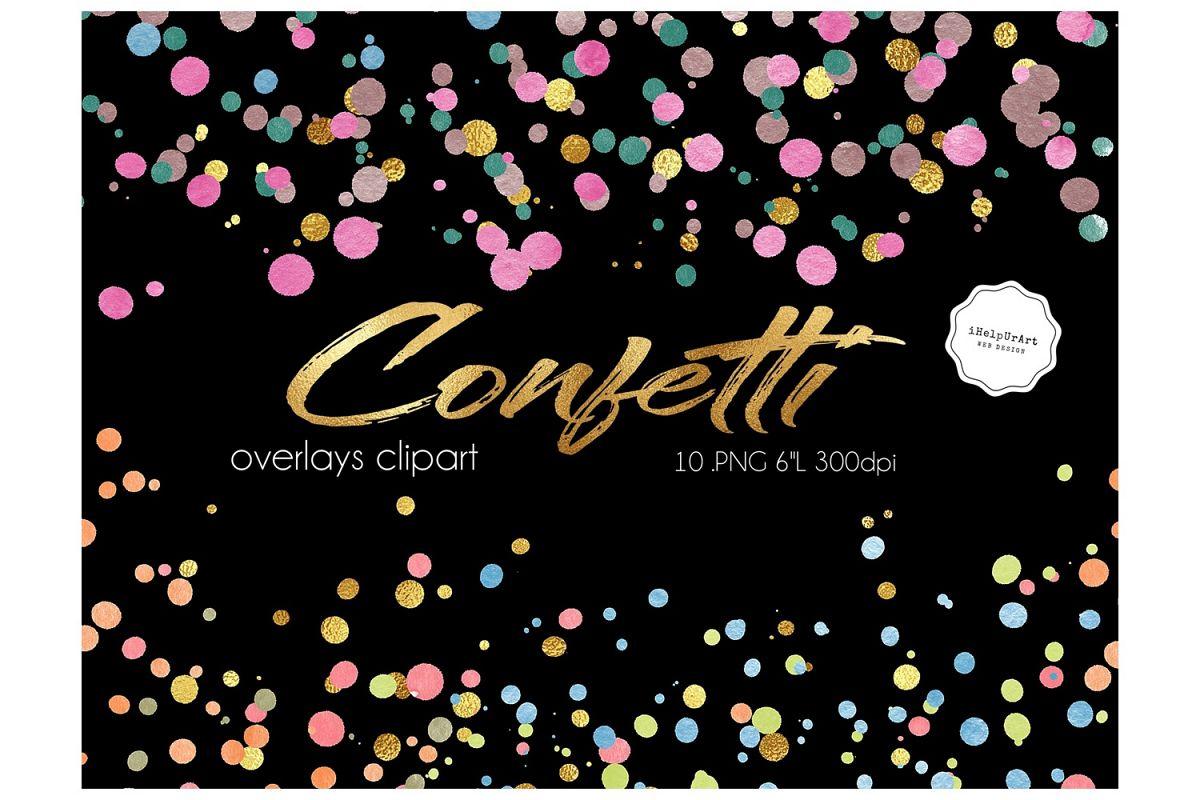 Colorful Confetti Clipart example image 1