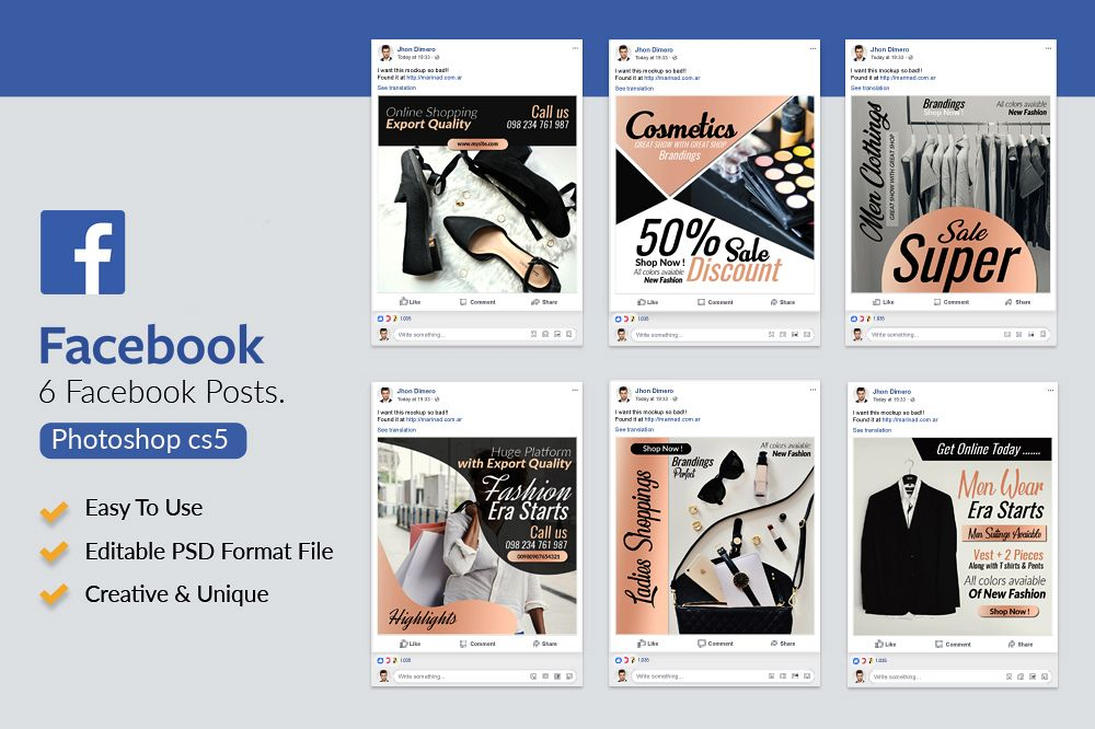 6 Fashion Product Promotion Facebook Post example image 1