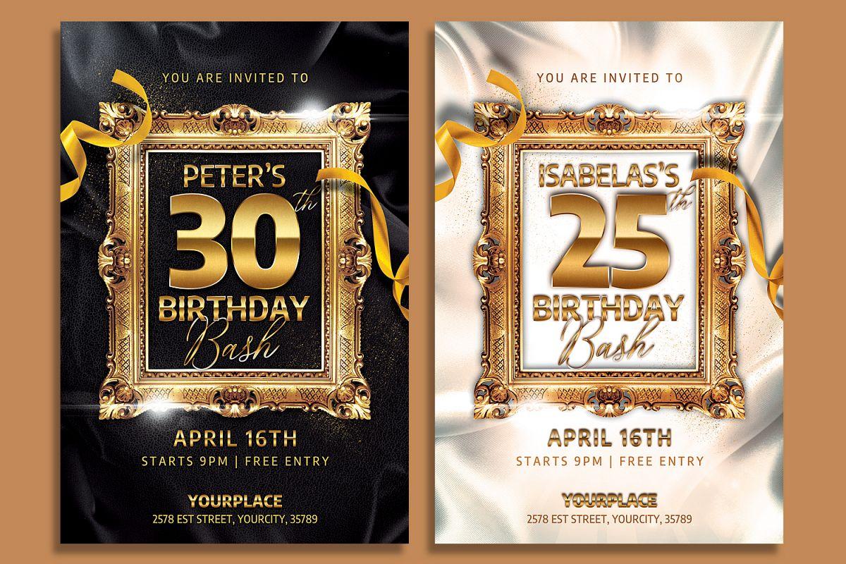Cly Birthday Invitation Flyer