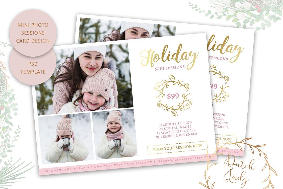 PSD Photo Mini Session Card Template - Design #20 example image 1