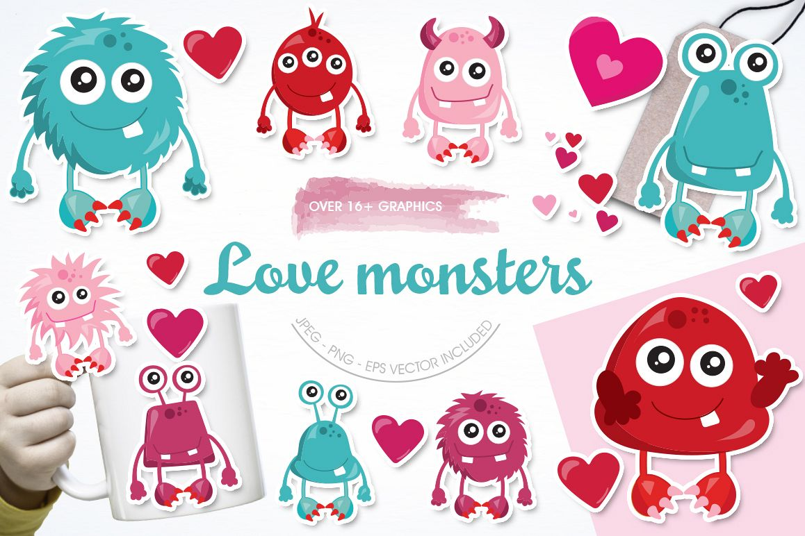 Love Monster graphic and illustrations example image 1