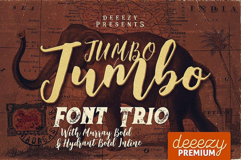 Jumbo Font Trio example image 1