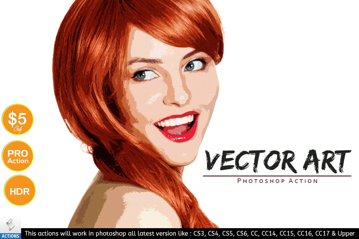 Vector Art - Photoshop Action example image 1