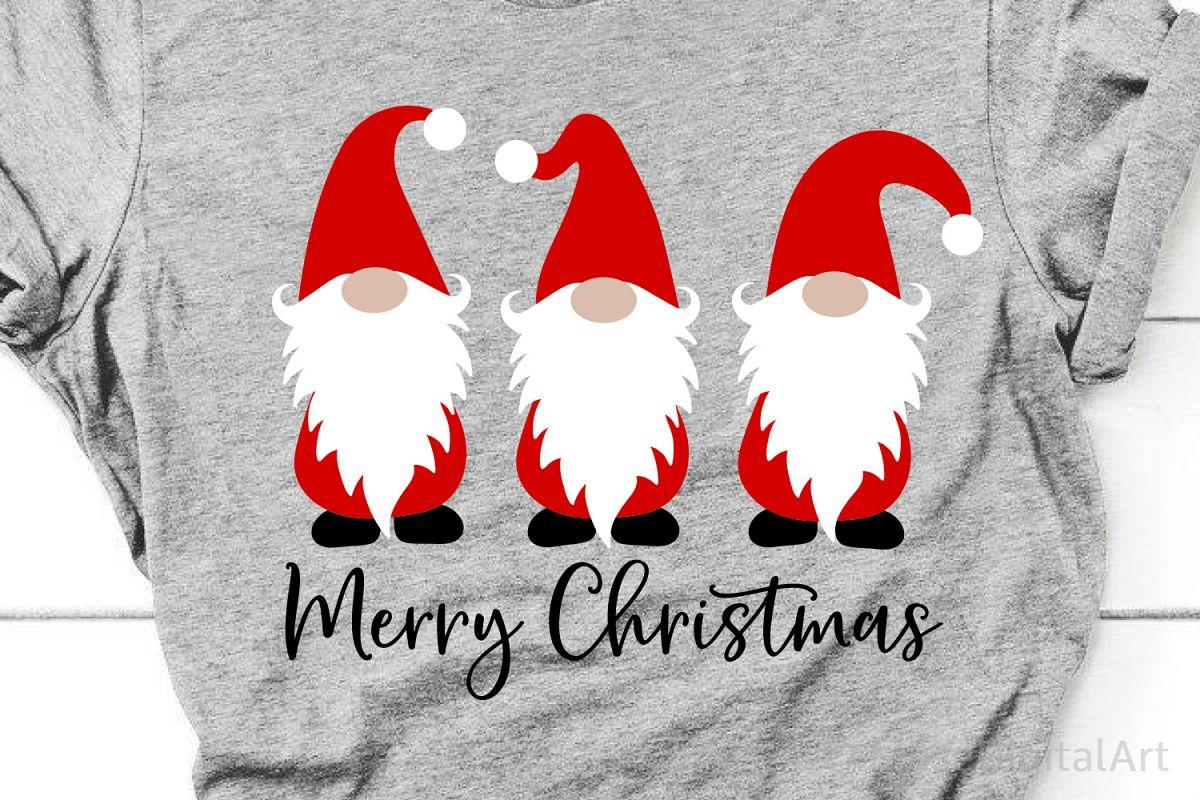 Merry Christmas Svg, Christmas Gnomes Svg, Cute Gnomies Svg example image 1