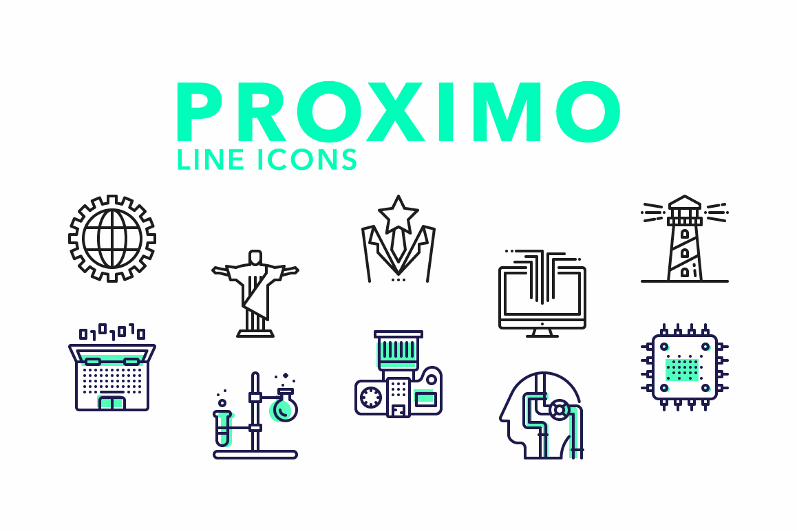 Proximo Line Icons example image 1