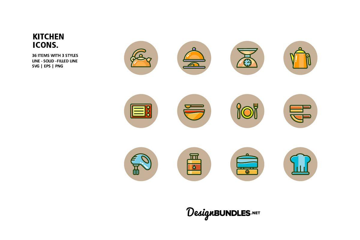 Kitchen Icons example image 1