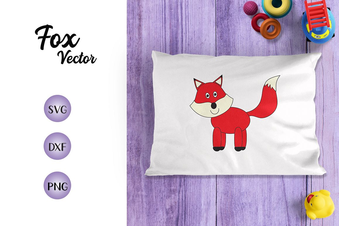 Red Fox SVG Dxf PNG- For Crafters example image 1