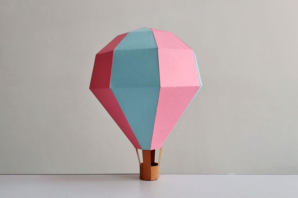 DIY Papercraft Hot air baloon decorations,cricut files,svg example image 1