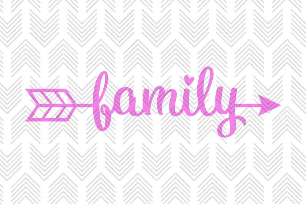 Family Arrow - SVG, AI, EPS, PDF, DXF & PNG FILES example image 1