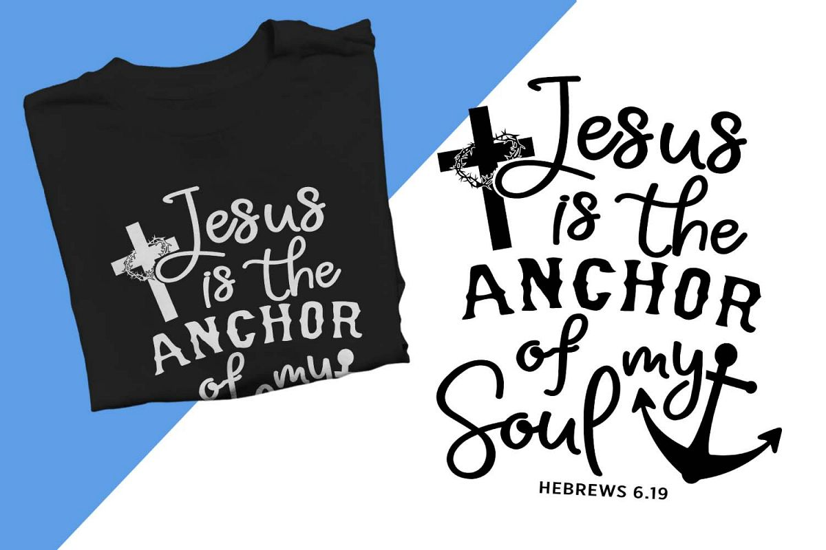 image about Printable Anchor named Jesus is the anchor of my soul Printable