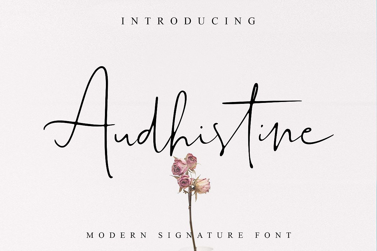 Audhistine Font example image 1