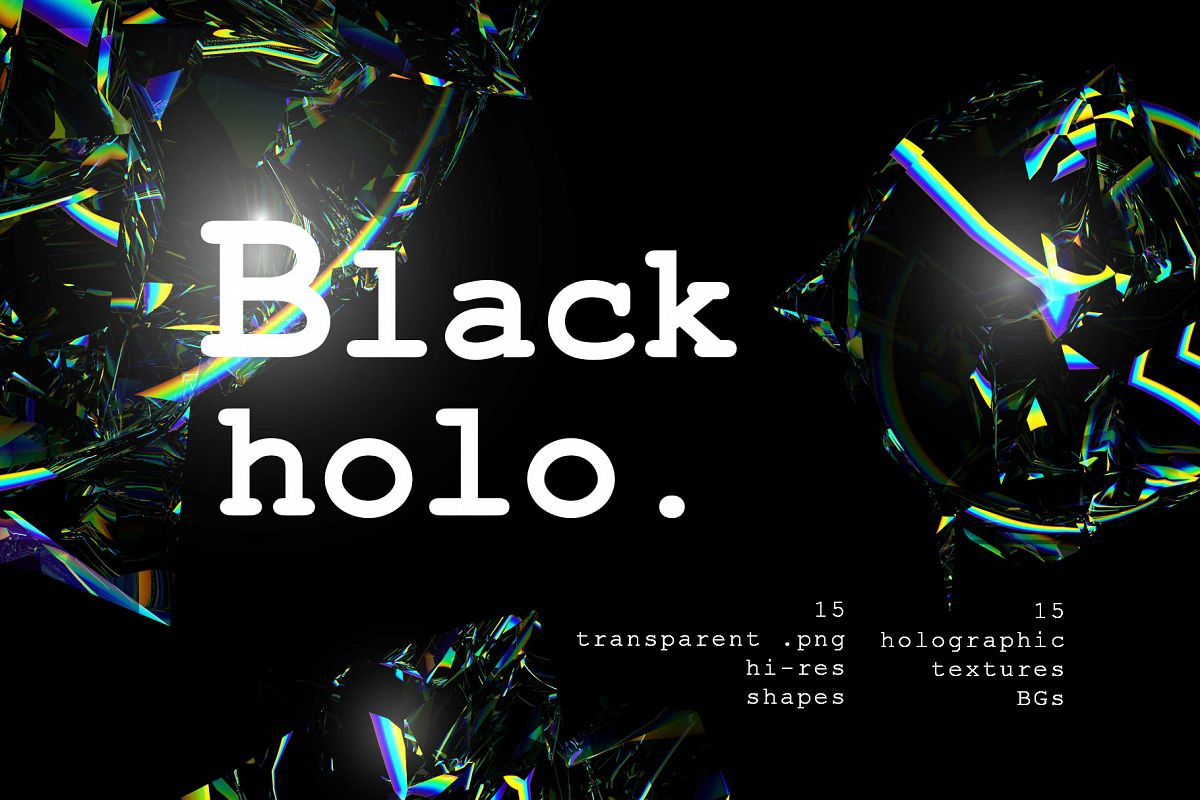 Holographic Shapes and Textures example image 1