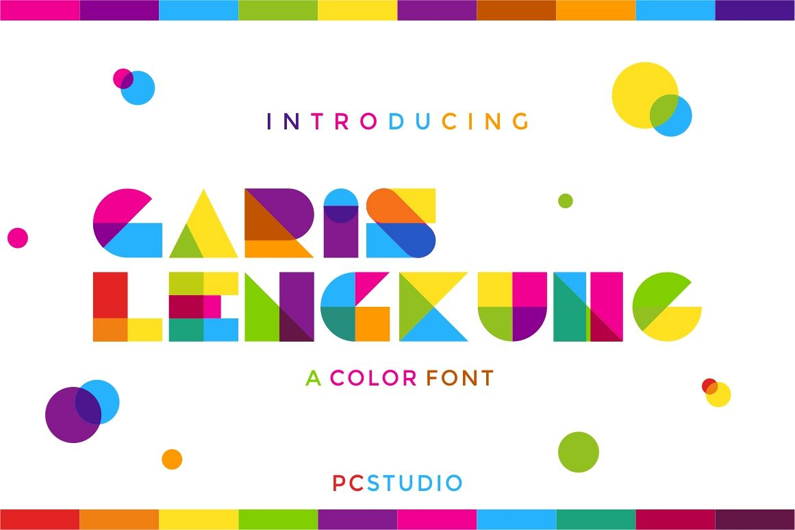 Garis Lengkung - Color Font example image 1