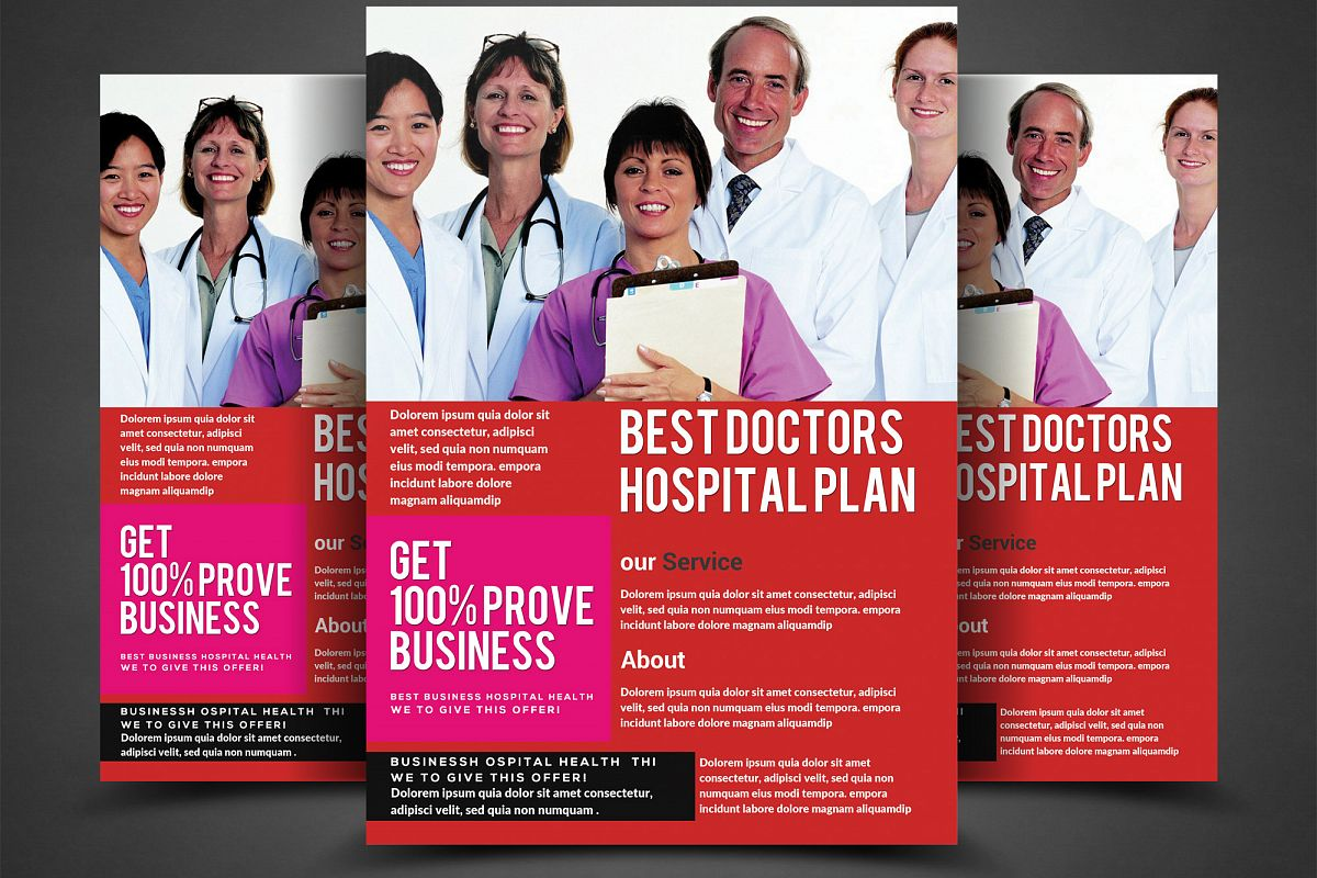 Business Flyer Hospital example image 1