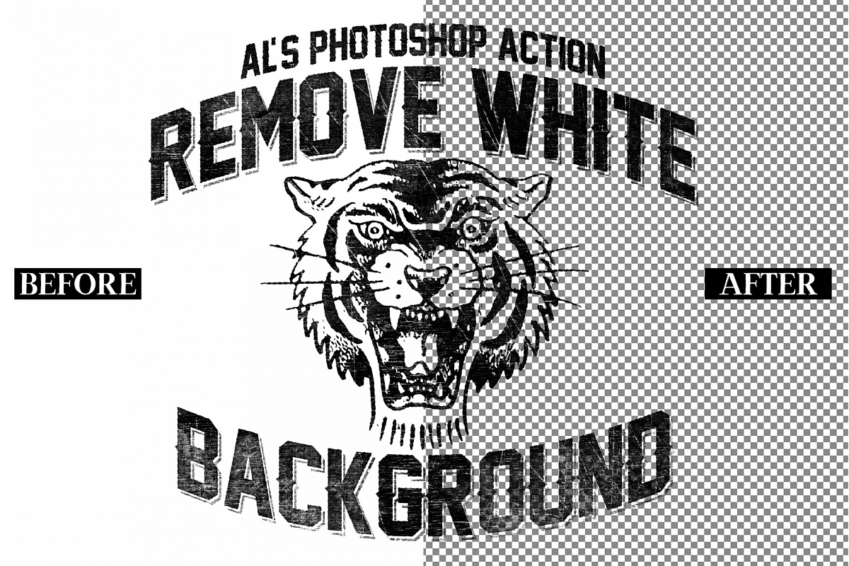 Remove White Background PSD Action example image 1