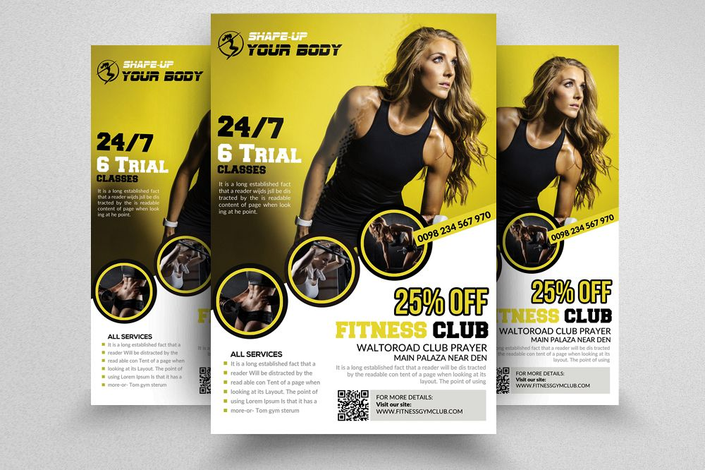 Fitness Club Ads Flyer/Poster example image 1