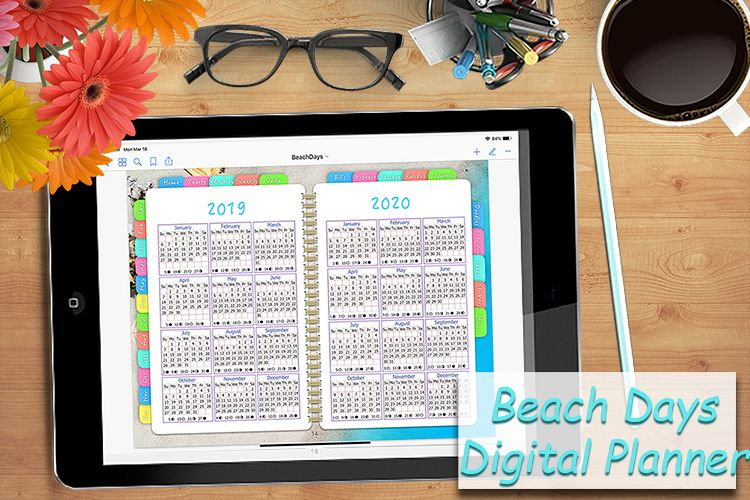 Digital Planner Beach Days example image 1