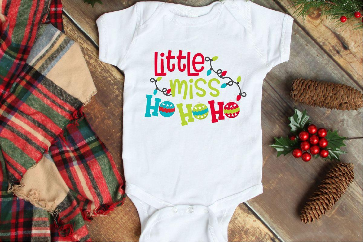 Christmas SVG, Little Miss Ho Ho Ho Sublimation example image 1