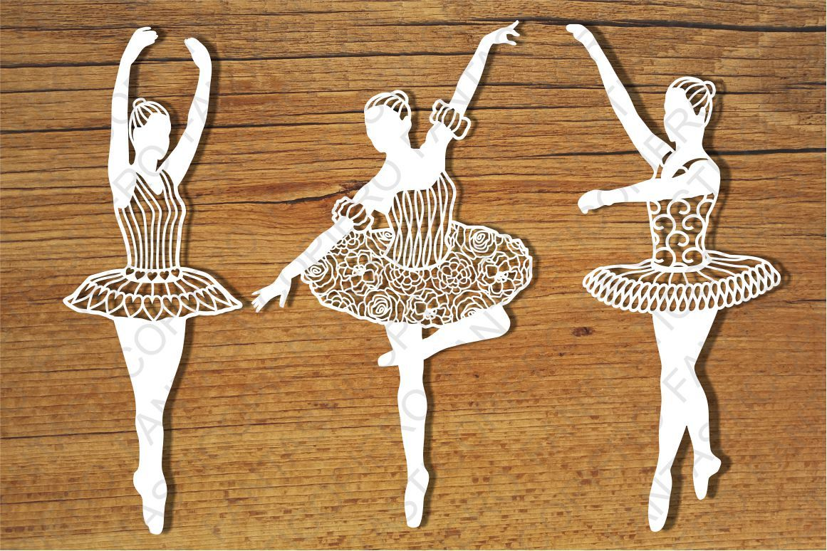 Classic Dancer SVG cutting files for Silhouette and Cricut. example image 1