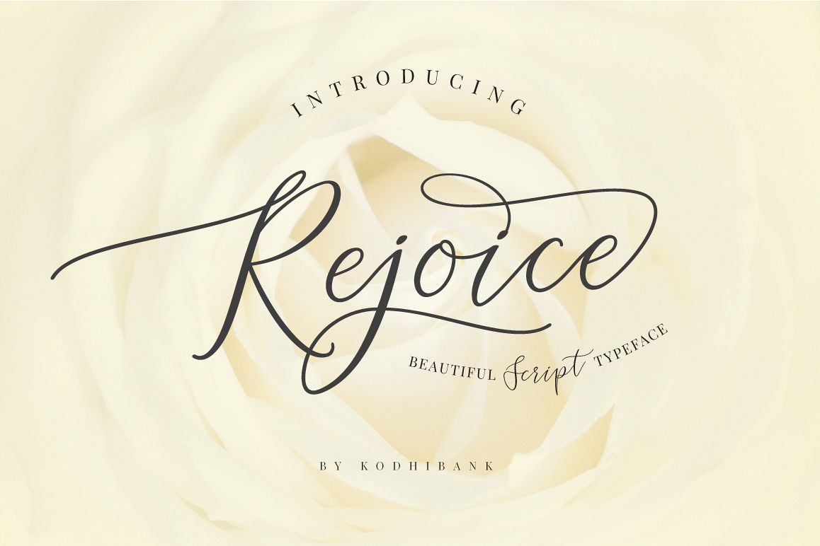 Rejoice Typeface example image 1