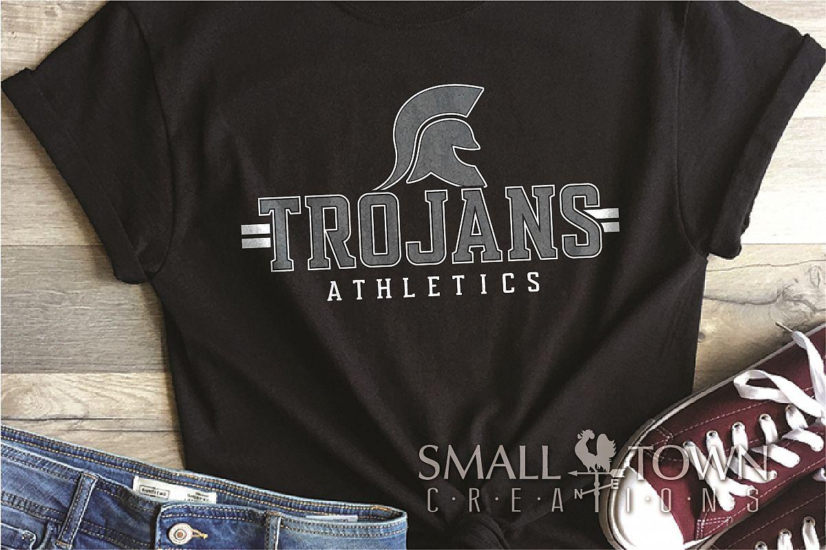 Trojans Athletics, Team, Sorts, logo, PRINT, CUT & DESIGN example image 1
