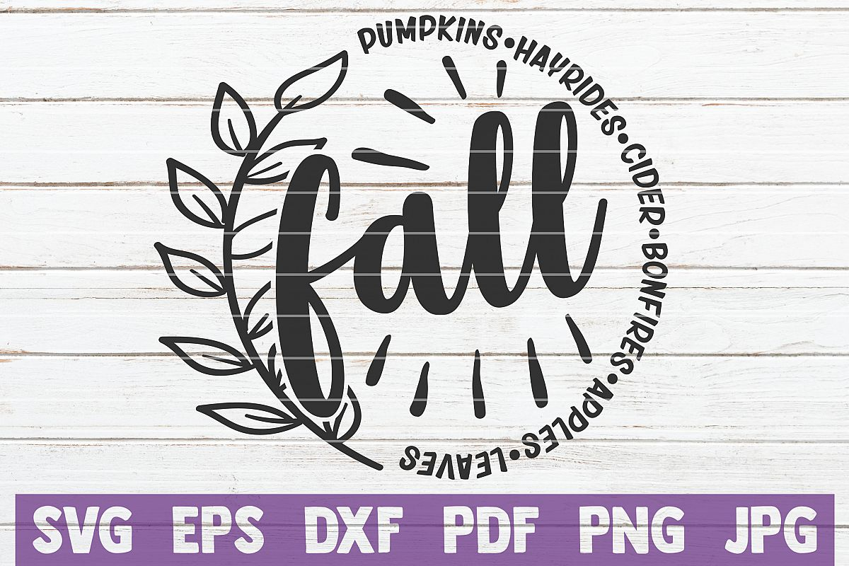 Fall SVG Cut File example image 1