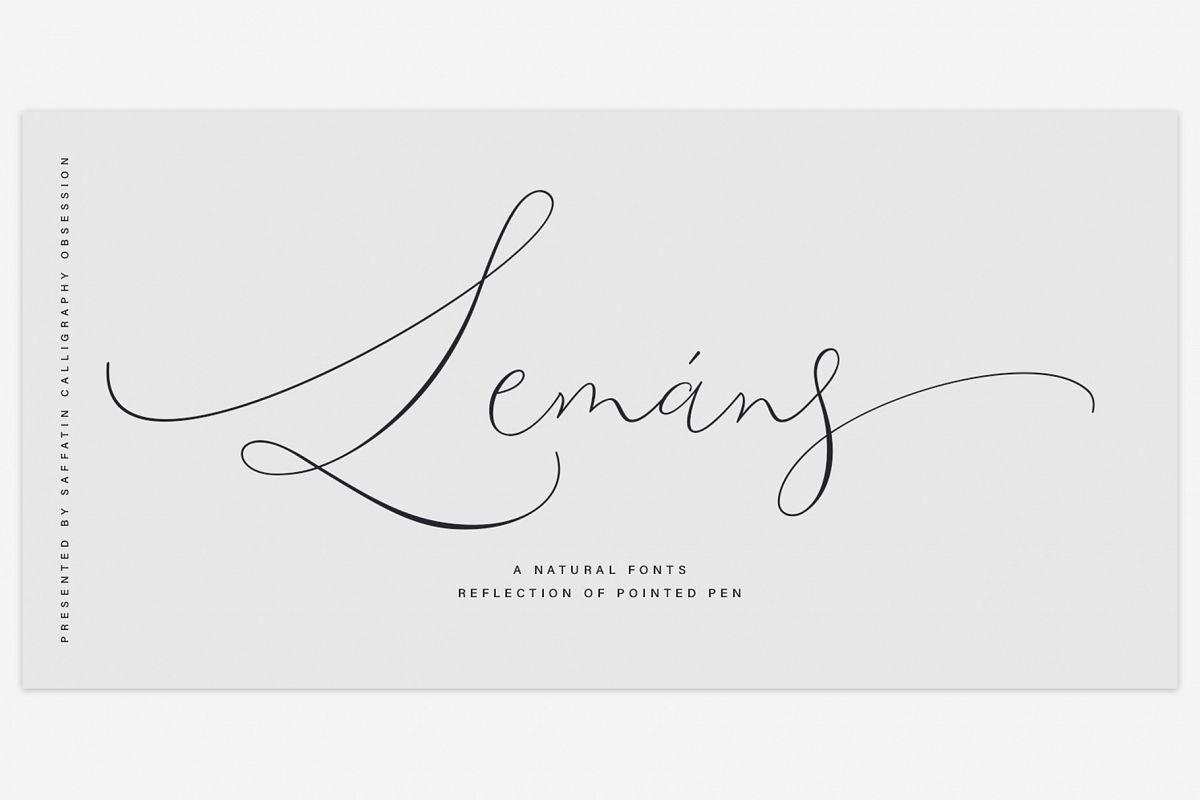 Lemans Pen Script example image 1