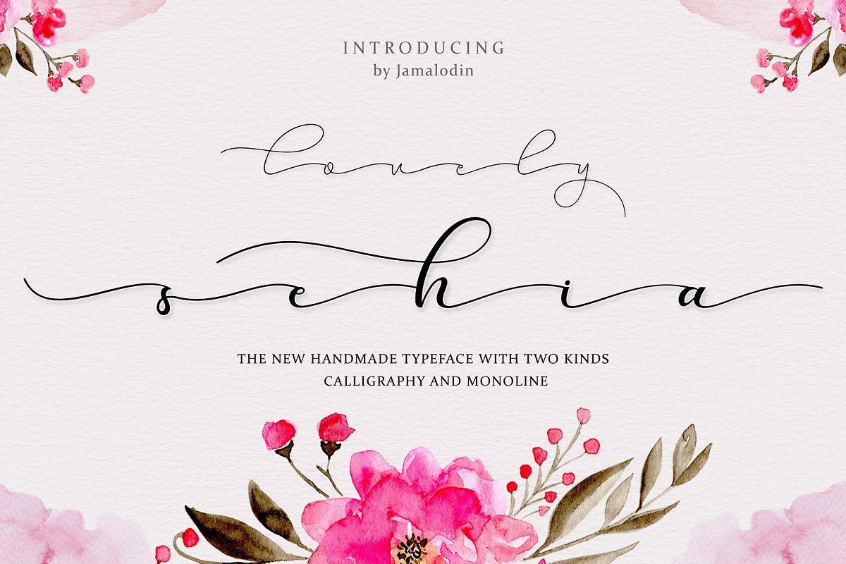 Sehia Script Calligraphy & Monoline example image 1