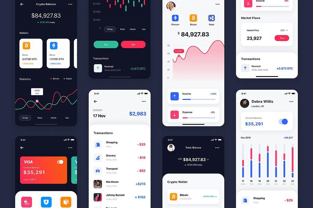 Curium - Financial UI Kit example image 1