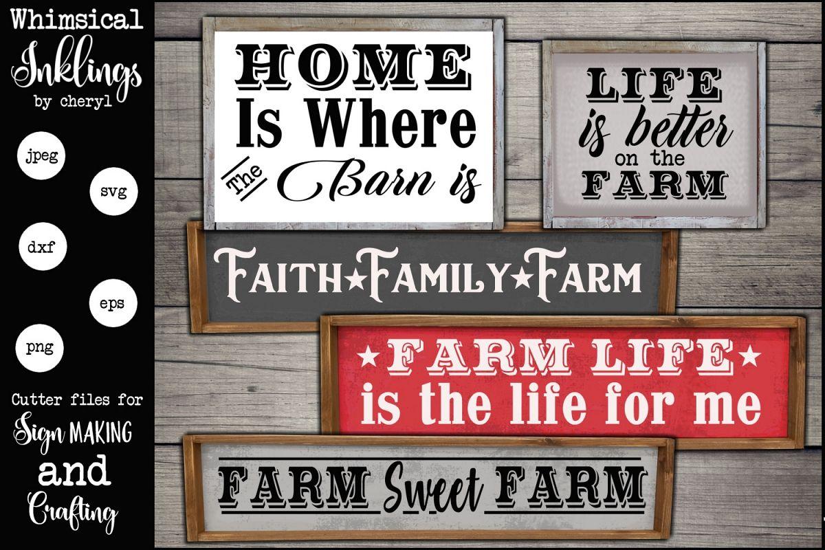 Faith Family Farm SVG Set example image 1