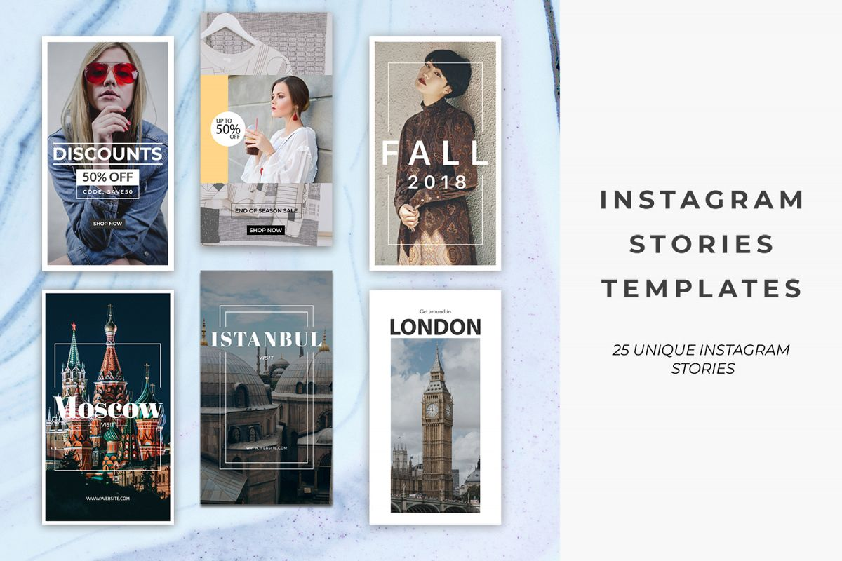 25 Instagram Stories Templates example image 1