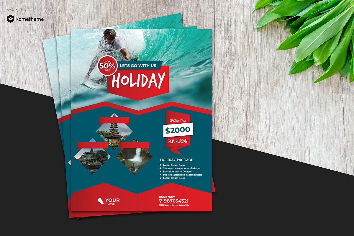 Holiday Travel Flyer vol.7 example image 1