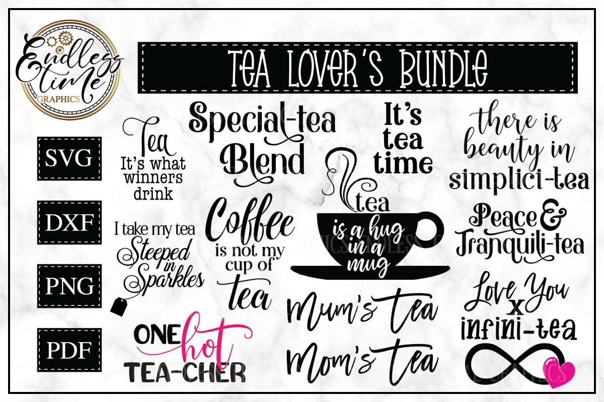 Tea-rific SVG Bundle for Tea Lovers example image 1