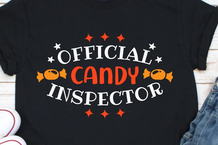 Offical Candy Inspector Svg, Halloween Svg, Candy Svg example image 1