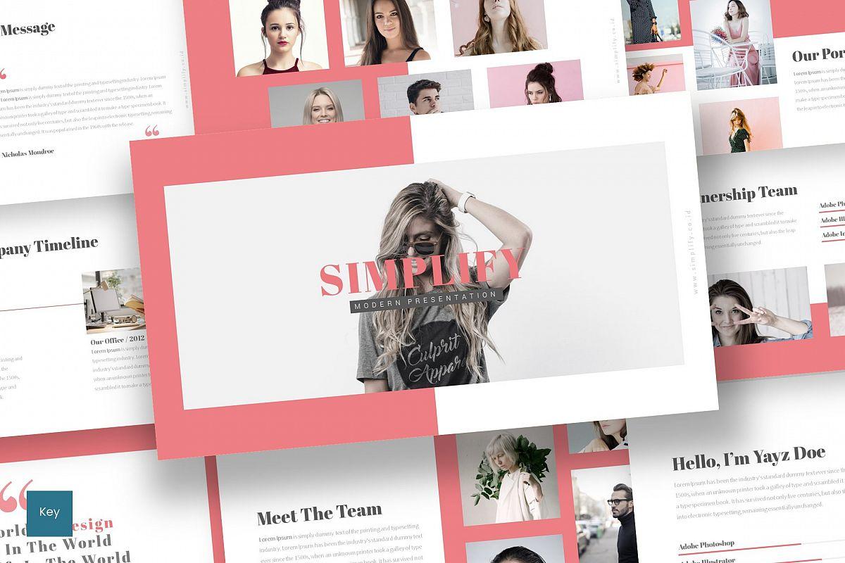Simplify - Keynote Template example image 1
