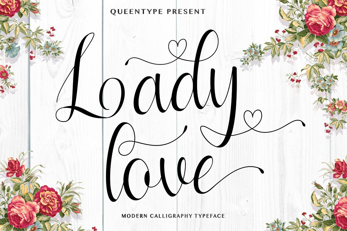 Ladylove Script example image 1