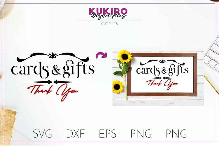 Cards and gifts - Wedding cut files SVG JPG PNG DXF EPS example image 1