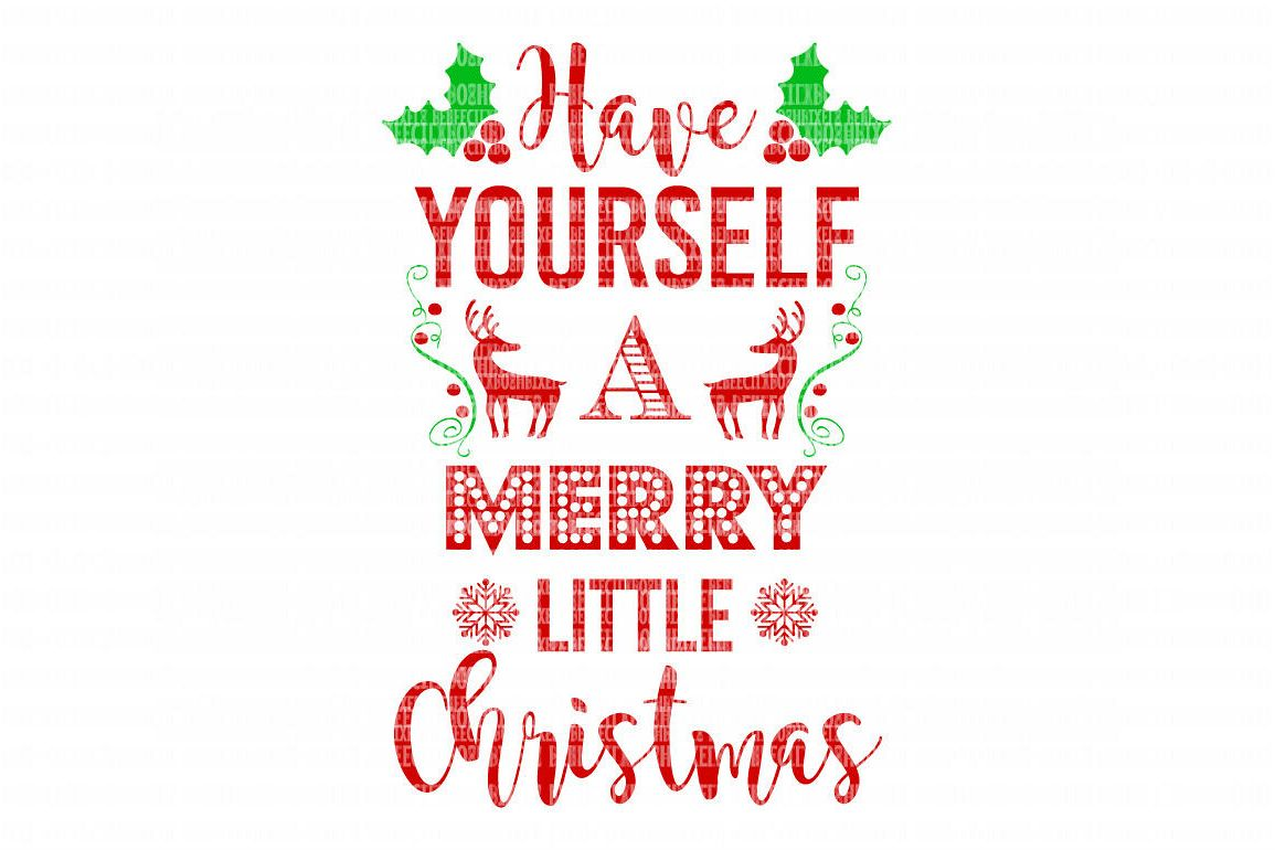 Merry Little Christmas SVG Iron